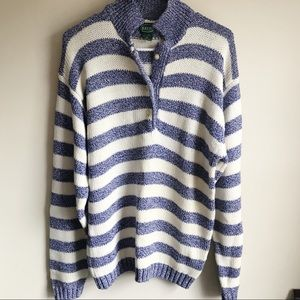 Izod Oversized Button Popover Cotton Sweater